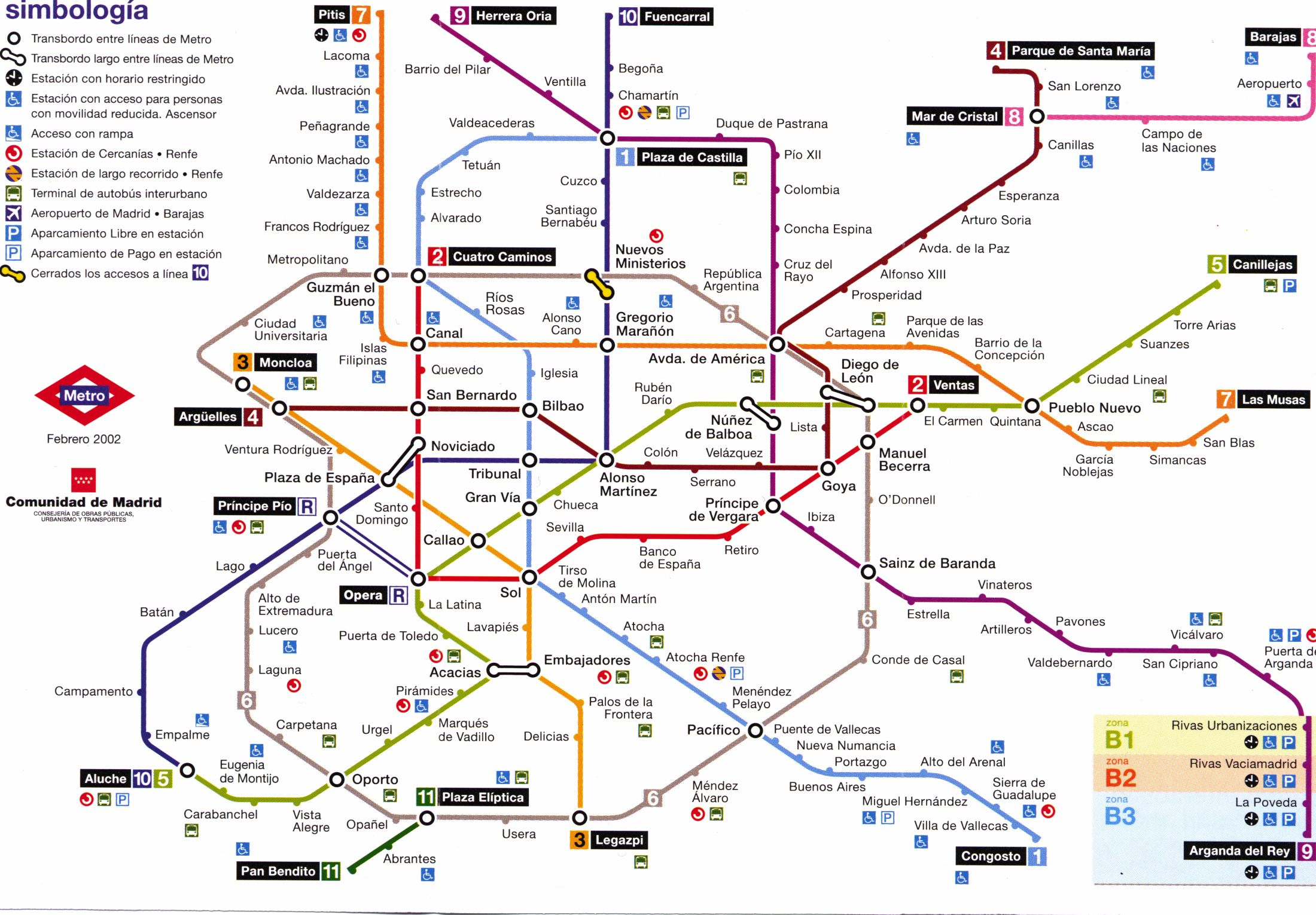 Madrid metro | Metro & Train Maps | Pinterest