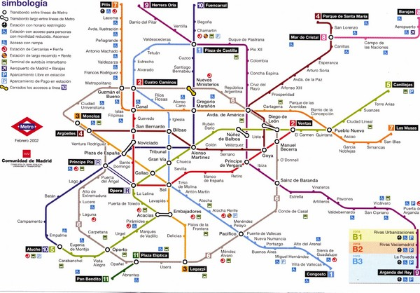 Madrid Underground Map Madrid Spain Mappery