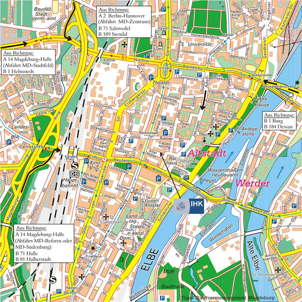 Magdeburg City Map - Magdeburg Germany • mappery