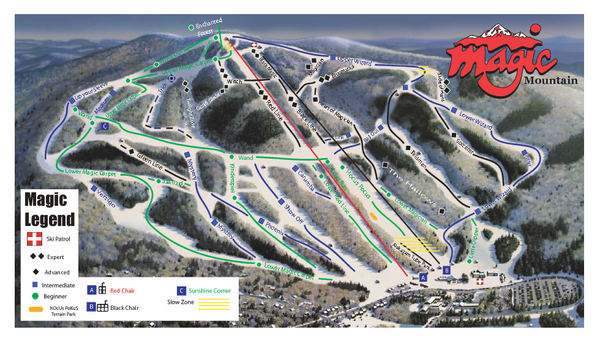 Magic Mountain Ski Trail Map
