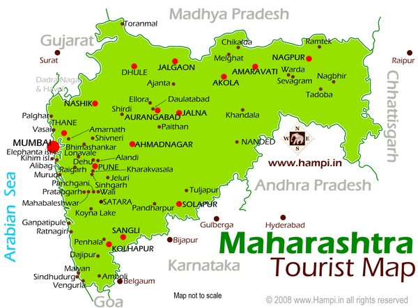 Maharahtra Tourist Map