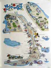 Majuro Atoll Downtown Tourist Map