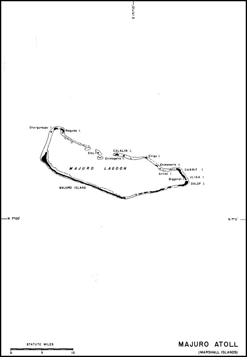 Majuro atoll Map marshall islands mappery