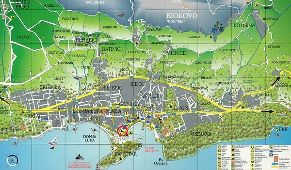 Makarska Tourist Map