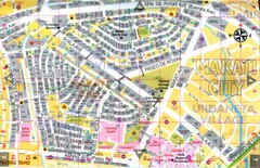 Makati City Tourist Map