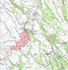 Makawao, Hawaii Topographic Tourist Map