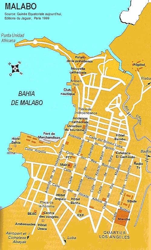 Malabo city Map mappery