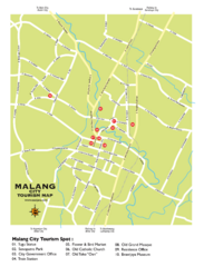 Malang City Tourism Map