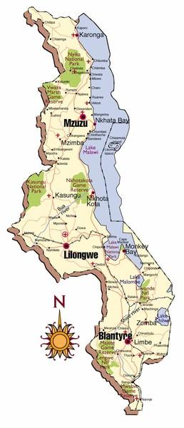 Lilongwe City Map Lilongwe Malawi mappery
