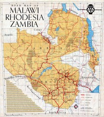 Malawi, Rhodesia and Zambia Road Map