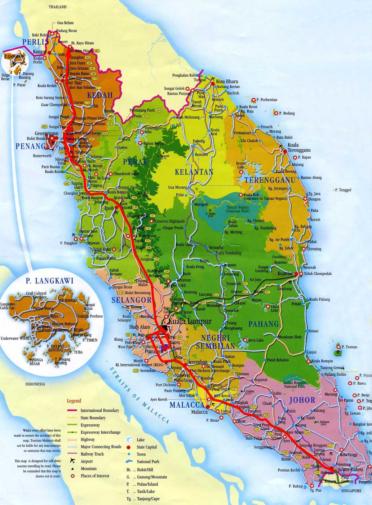 Malaysia map see map details from kuala lumpur org