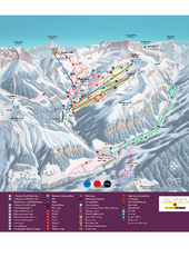 Malbun Ski Trail Map