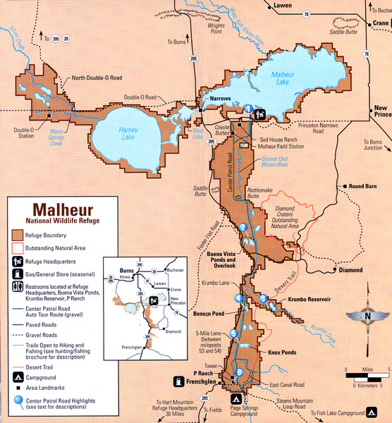 Malheur National Wildlife Refuge Map