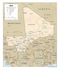 Mali Country Map