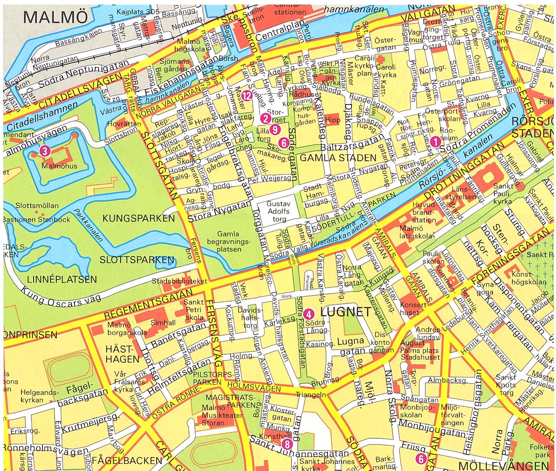 Malmo 1 Map malmo mappery