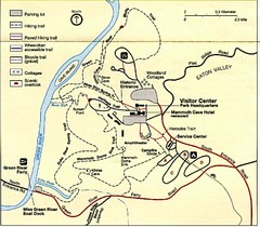 Mammoth Cave National Park Official Park Map Mammoth Cave National