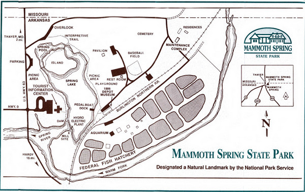 Mammoth Spring State Park Map