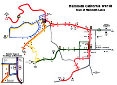 Mammoth Transit Map