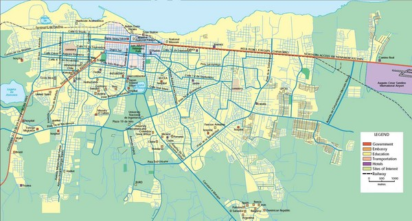 Managua Map - Managua Nicaragua • mappery