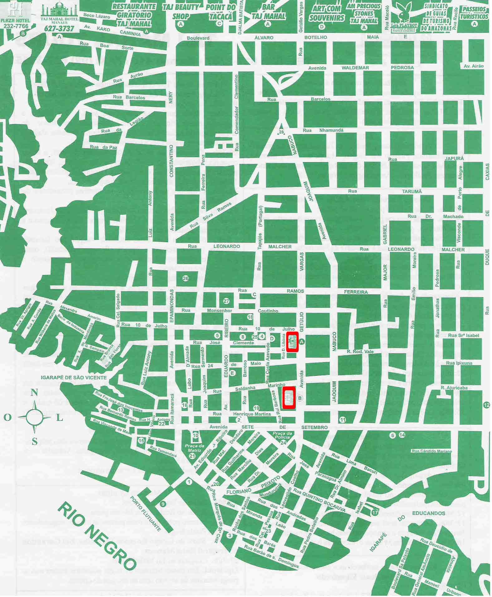 Manaus Center Map - Manaus Brazil • mappery