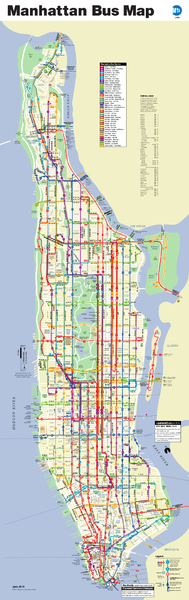 Manhattan Bus Map