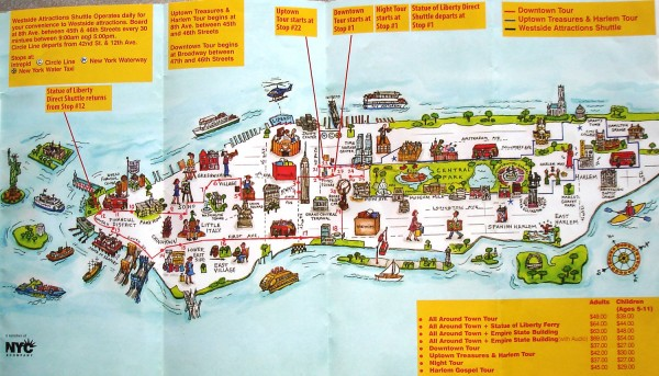 real life map collection mappery – New York City Tourist Map PDF