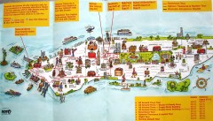 Manhattan Citysites Tour map
