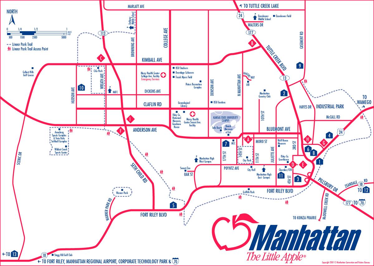 Map Of Manhattan Kansas.Manhattan Kansas City Map Manhattan Kansas Mappery