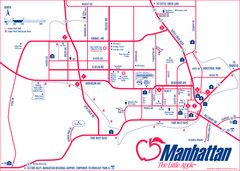 Manhattan (Kansas) City Map