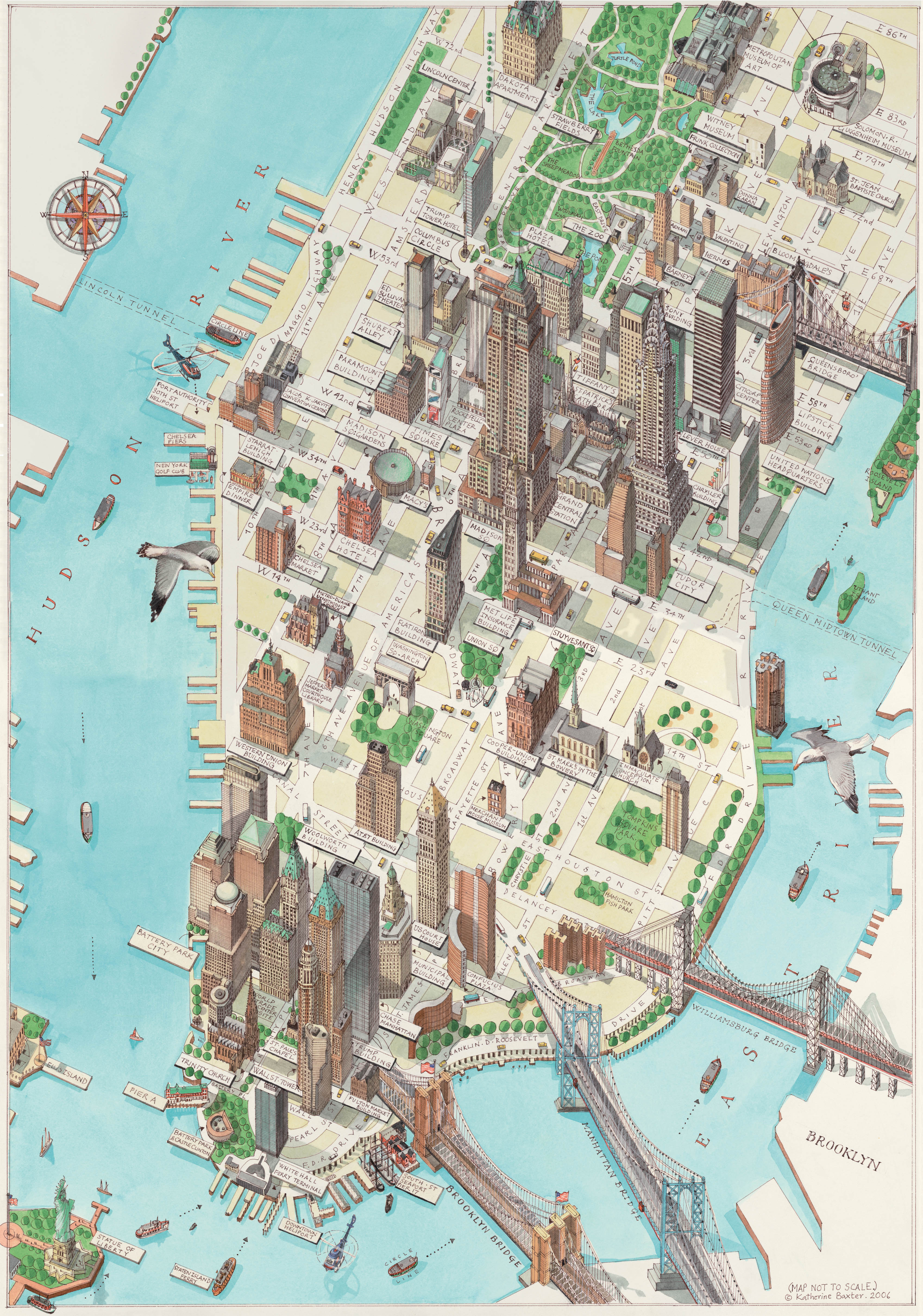 Manhattan New York Map New York mappery – Manhattan Tourist Map