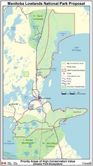 Manitoba Lowlands National Park Tourist Map