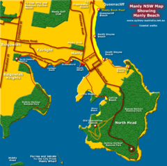 Manly Beach Map