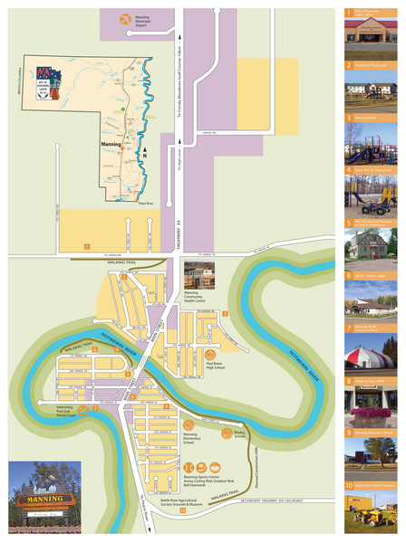 Manning Town Map