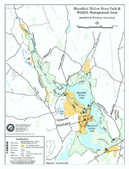 Mansfield Hollow State Park map