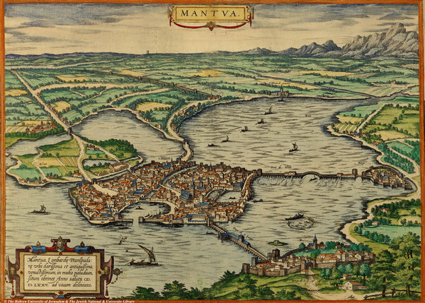 Mantua City Map 1575