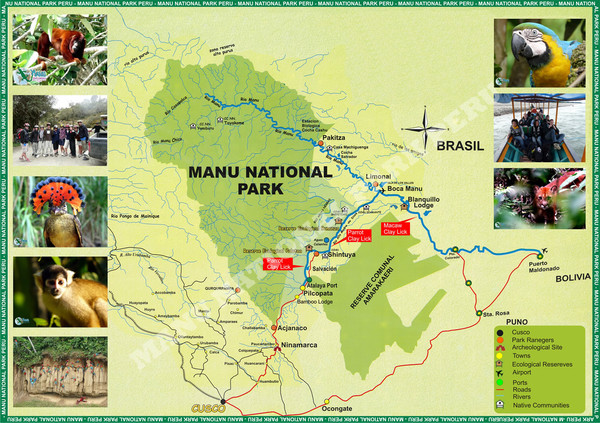 Manu National Park Map