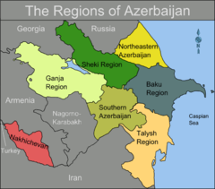 Map Of Azerbaijan Regions