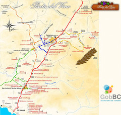 Map of the Baja Wine Country