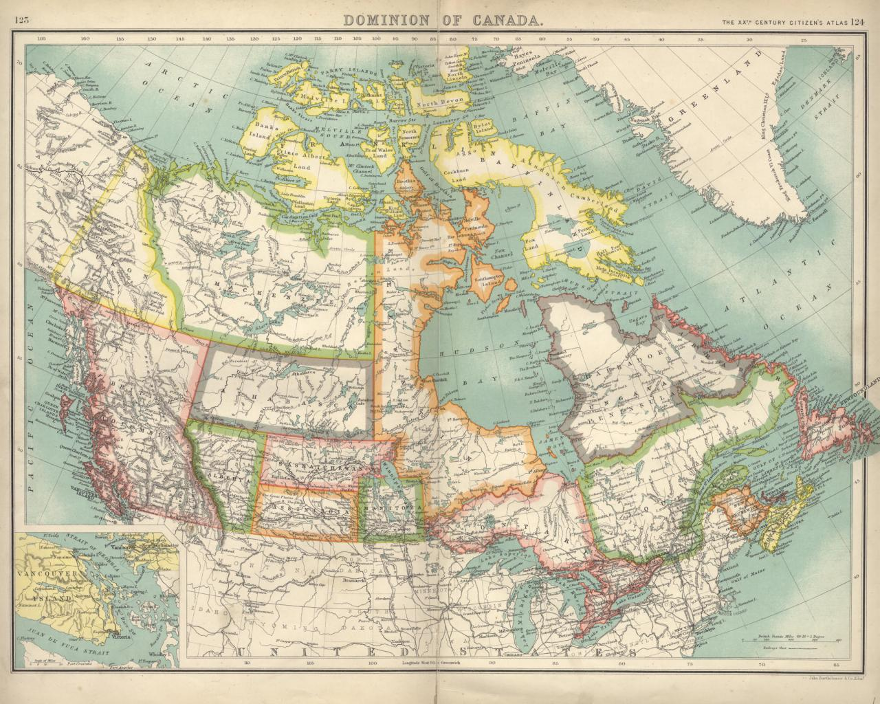 Map 1900.Map Of Canada Circa 1900 Canada Mappery