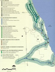 Map of Chicago River with Emphasis on...