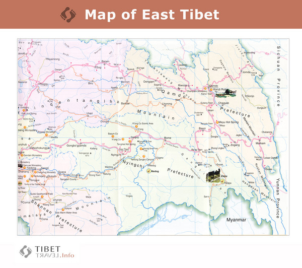 Map of East Tibet X