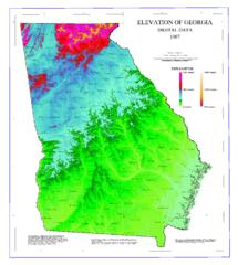 Usa Map Elevations
