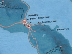 Map of Haines, Alaska
