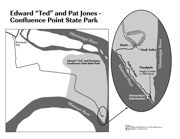 Map of Jones-Confluence Point State Park