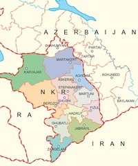 Map of Nagorno-Karabakh (Artsakh)