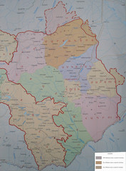 Map of the Nagorno-Karabakh Republic (Artsakh)