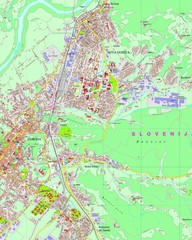 Map of Nova Gorica, Slovenia