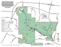 Map of Rockwoods Reservation, MO