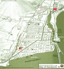 Map of Sandpoint, Idaho