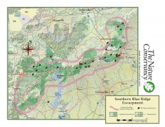 Map of Southern Blue Ridge Escarpment